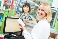 Customer purchasing medicine